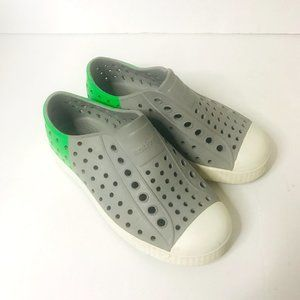 Native Toddler Water Rubber Shoes Gray Green White Sz 11